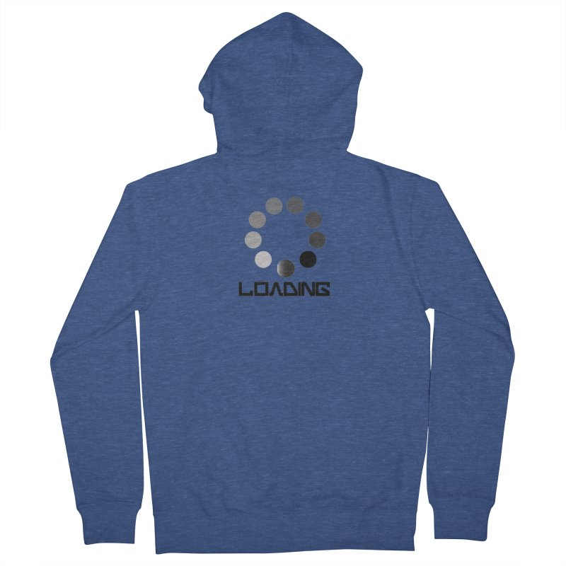 Image is of a 'Loading file' design  Men's French Terry Zip-Up Hoody by BIZGEN AUSTRALIA