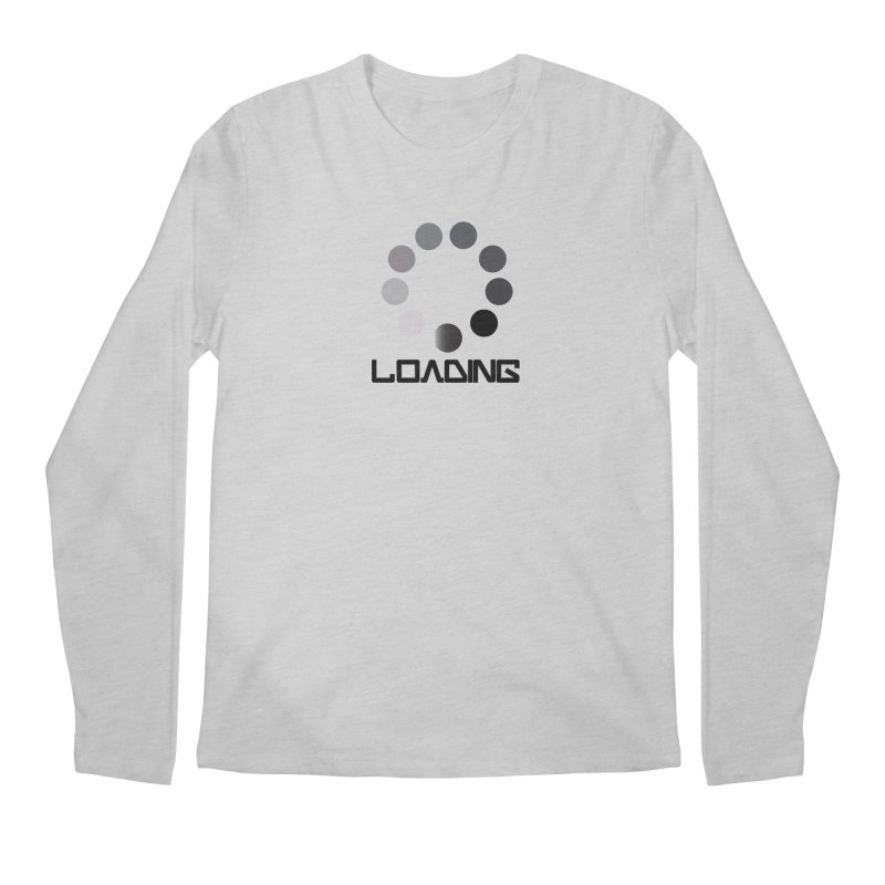 Image is of a 'Loading file' design  Men's Regular Longsleeve T-Shirt by BIZGEN AUSTRALIA