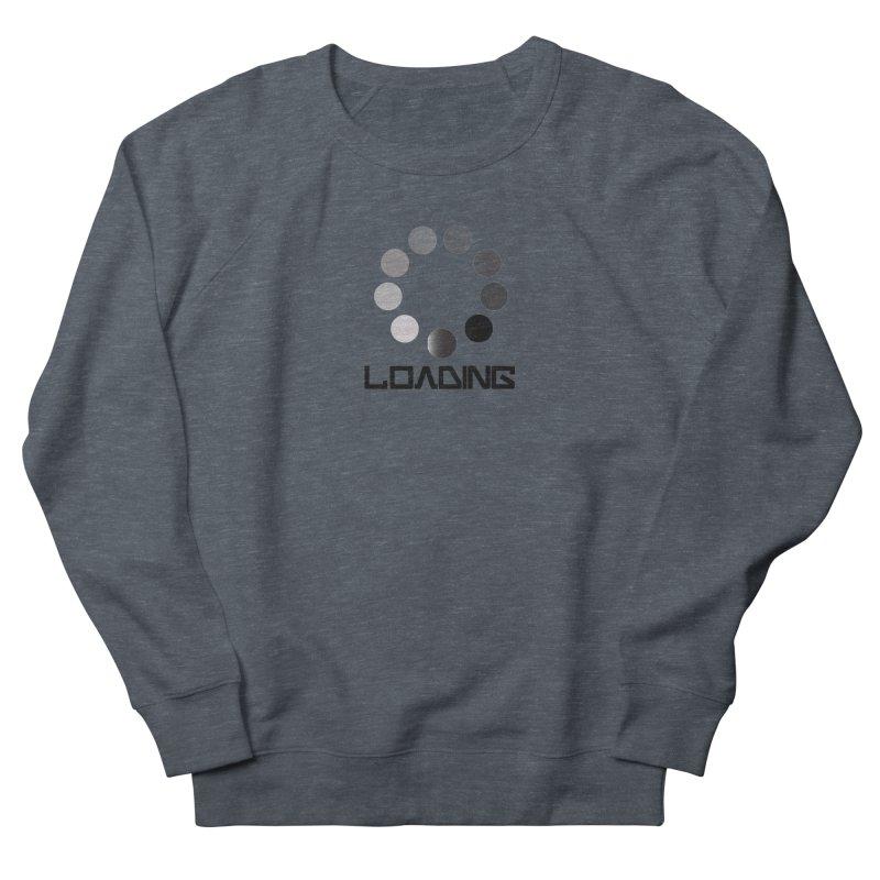 Image is of a 'Loading file' design  Men's French Terry Sweatshirt by BIZGEN AUSTRALIA
