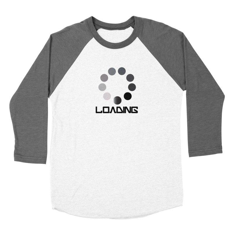 Image is of a 'Loading file' design  Women's Baseball Triblend Longsleeve T-Shirt by BIZGEN AUSTRALIA