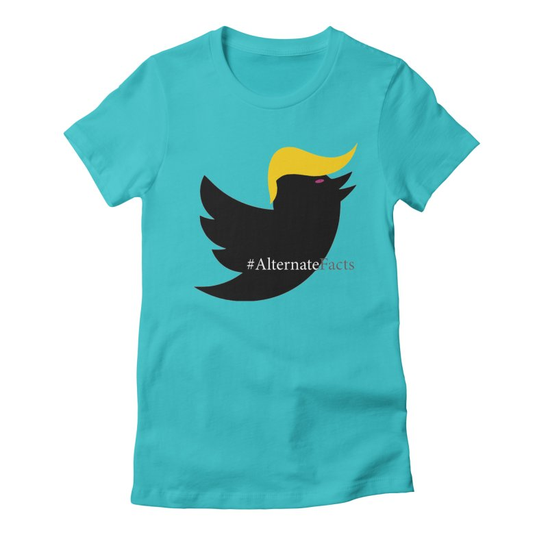 Alternate Facts by TWUMP aka POTUS Women's Fitted T-Shirt by BIZGEN AUSTRALIA