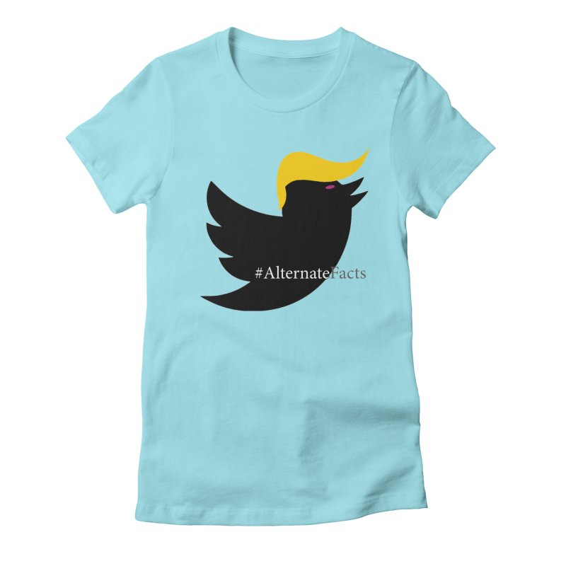Alternate Facts by TWUMP aka POTUS Women's Fitted T-Shirt by BIZGEN AUSTRALIA