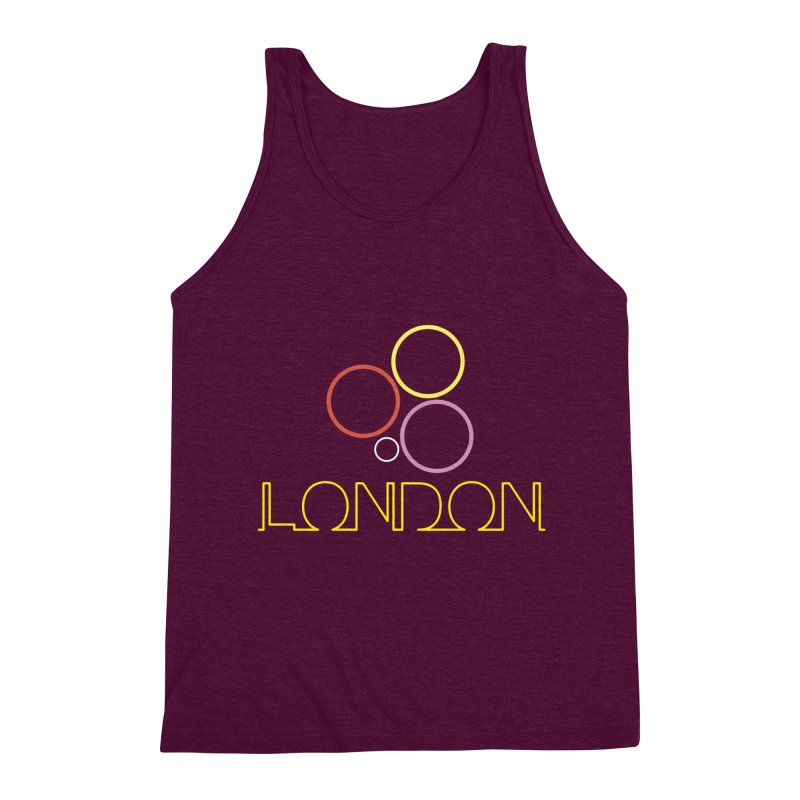 LONDON TOWN Men's Triblend Tank by BIZGEN AUSTRALIA