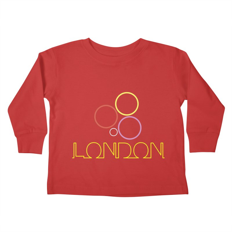 LONDON TOWN Kids Toddler Longsleeve T-Shirt by BIZGEN AUSTRALIA