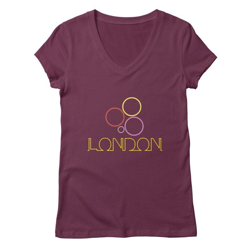 LONDON TOWN Women's Regular V-Neck by BIZGEN AUSTRALIA