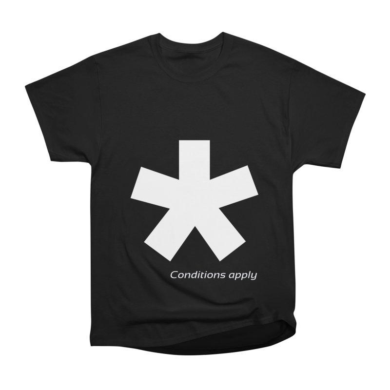 Asterix Conditions Apply Tee Women's Heavyweight Unisex T-Shirt by BIZGEN AUSTRALIA