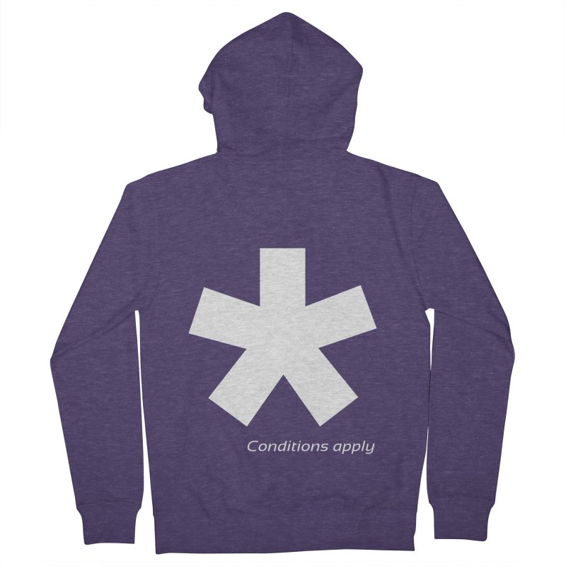 Asterix Conditions Apply Tee Men's French Terry Zip-Up Hoody by BIZGEN AUSTRALIA