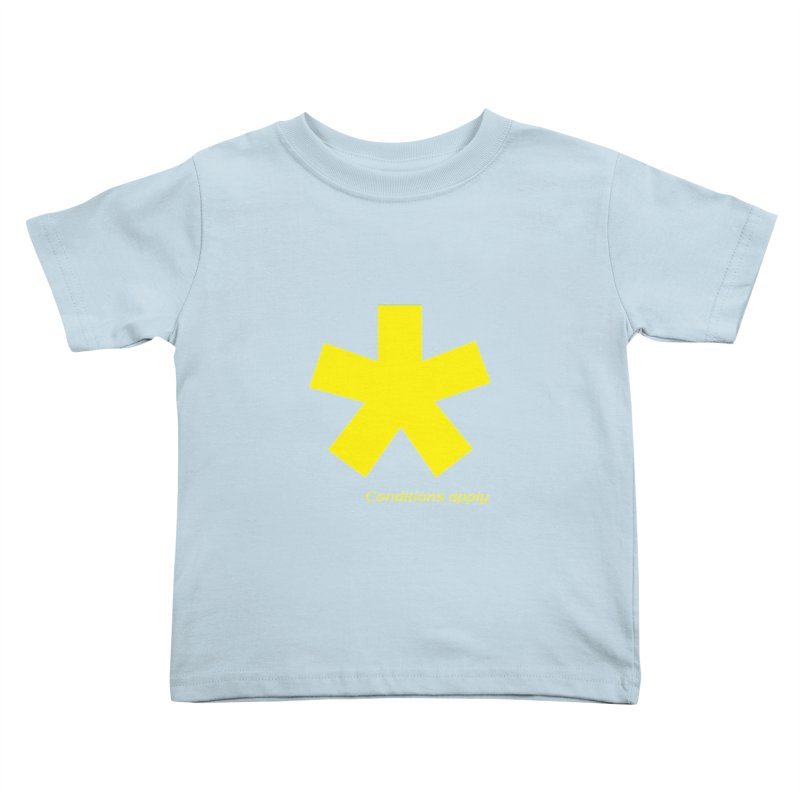 Asterix conditions apply style design Kids Toddler T-Shirt by BIZGEN AUSTRALIA