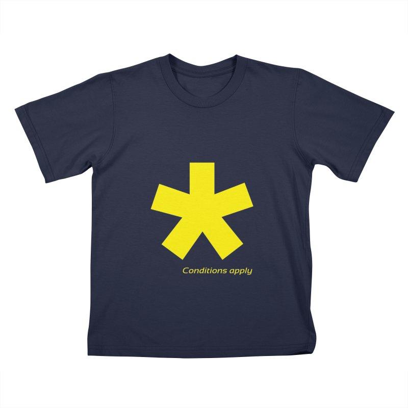 Asterix conditions apply style design Kids T-Shirt by BIZGEN AUSTRALIA