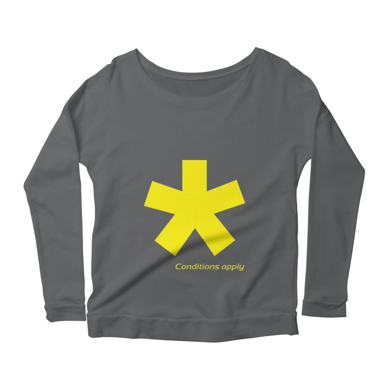 Asterix conditions apply style design Women's Longsleeve T-Shirt by BIZGEN AUSTRALIA