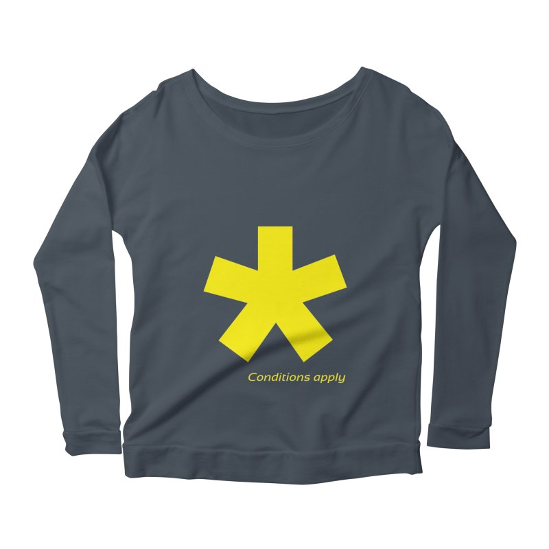 Asterix conditions apply style design Women's Scoop Neck Longsleeve T-Shirt by BIZGEN AUSTRALIA