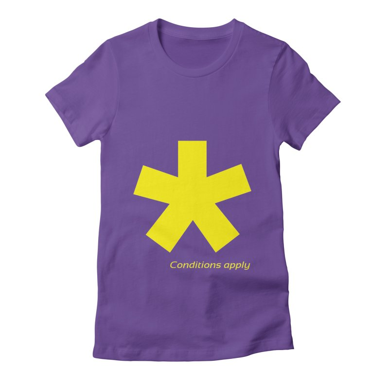 Asterix conditions apply style design Women's Fitted T-Shirt by BIZGEN AUSTRALIA