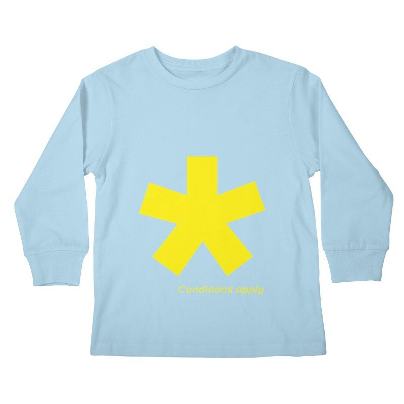 Asterix conditions apply style design Kids Longsleeve T-Shirt by BIZGEN AUSTRALIA