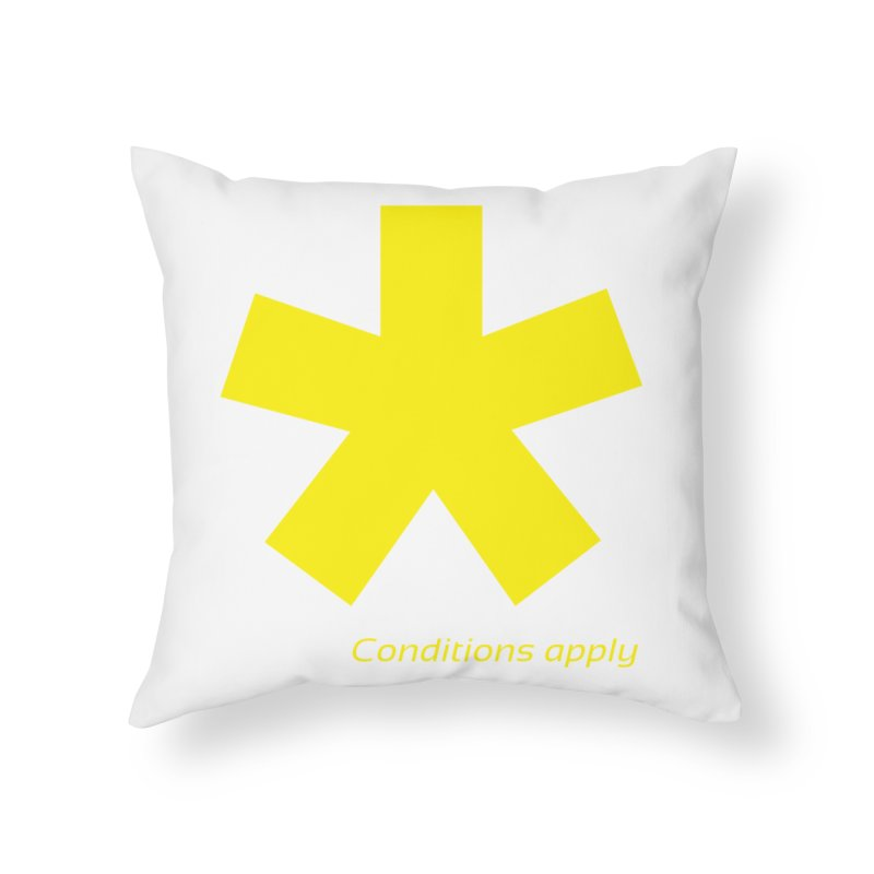 Asterix conditions apply style design Home Throw Pillow by BIZGEN AUSTRALIA