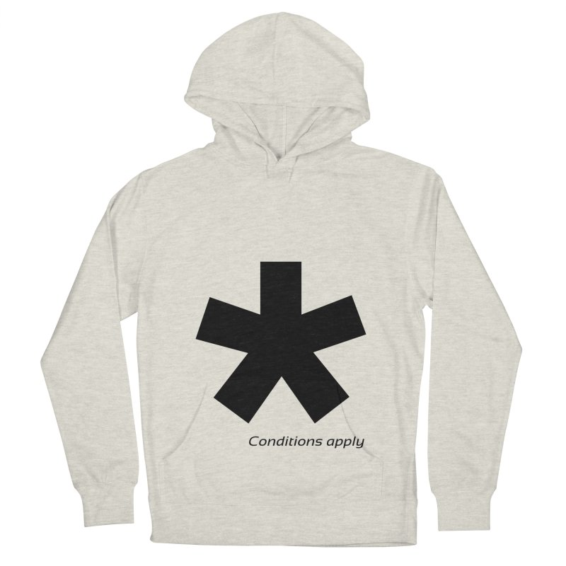 Abstract Asterix. Black design for conditions apply design. Men's French Terry Pullover Hoody by BIZGEN AUSTRALIA