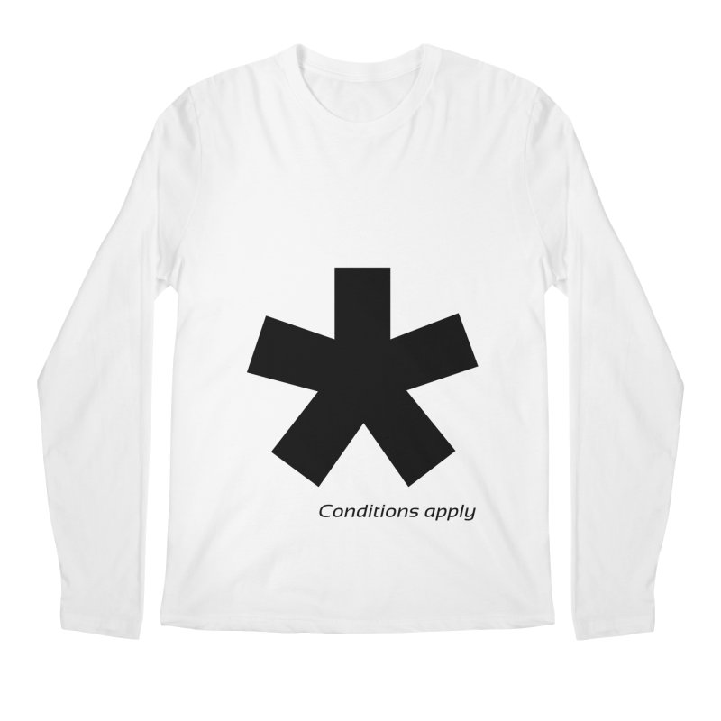 Abstract Asterix. Black design for conditions apply design. Men's Regular Longsleeve T-Shirt by BIZGEN AUSTRALIA