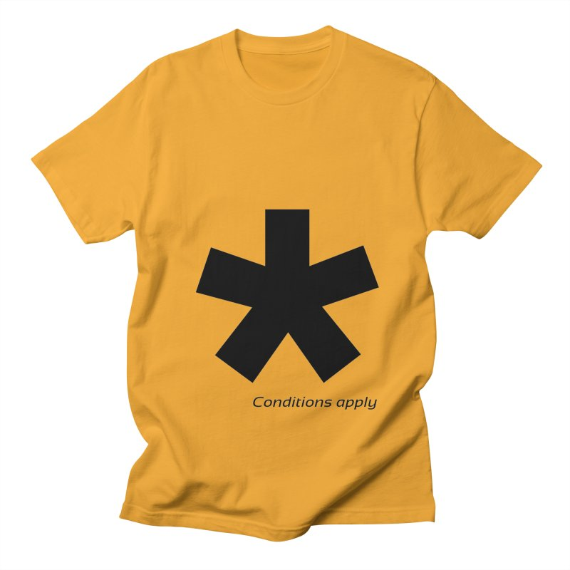 Abstract Asterix. Black design for conditions apply design. Men's Regular T-Shirt by BIZGEN AUSTRALIA