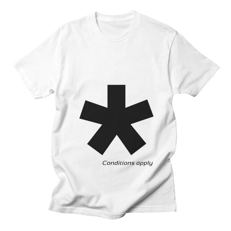 Abstract Asterix. Black design for conditions apply design. Women's Regular Unisex T-Shirt by BIZGEN AUSTRALIA