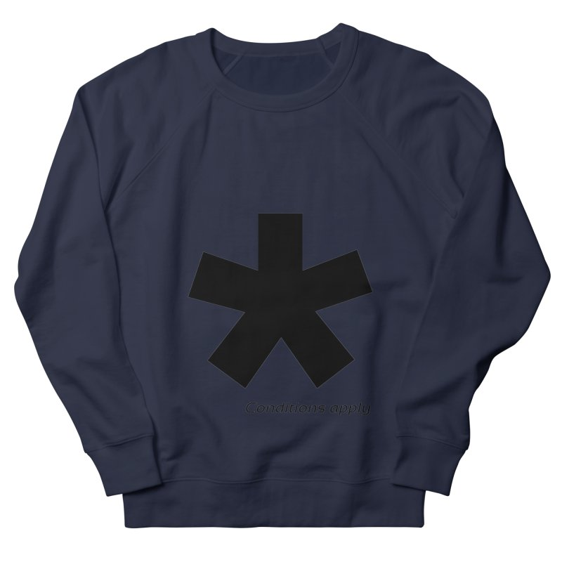 Abstract Asterix. Black design for conditions apply design. Women's French Terry Sweatshirt by BIZGEN AUSTRALIA