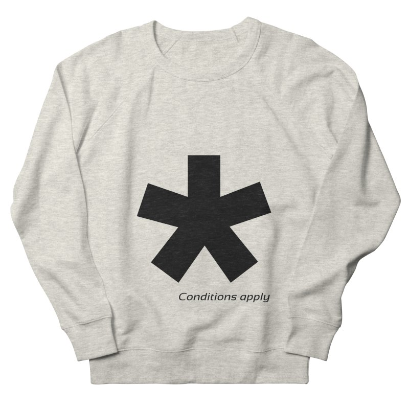 Abstract Asterix. Black design for conditions apply design. Men's French Terry Sweatshirt by BIZGEN AUSTRALIA