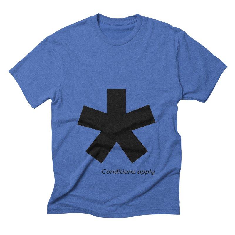 Abstract Asterix. Black design for conditions apply design. Men's Triblend T-Shirt by BIZGEN AUSTRALIA