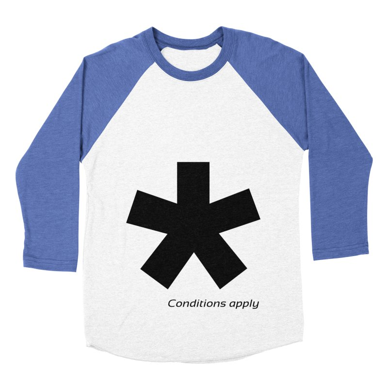 Abstract Asterix. Black design for conditions apply design. Women's Baseball Triblend Longsleeve T-Shirt by BIZGEN AUSTRALIA