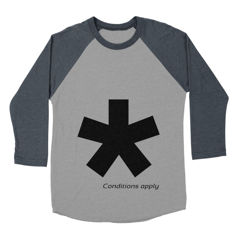 Abstract Asterix. Black design for conditions apply design. Men's Baseball Triblend Longsleeve T-Shirt by BIZGEN AUSTRALIA