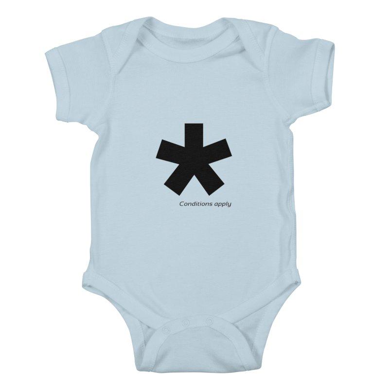 Abstract Asterix. Black design for conditions apply design. Kids Baby Bodysuit by BIZGEN AUSTRALIA