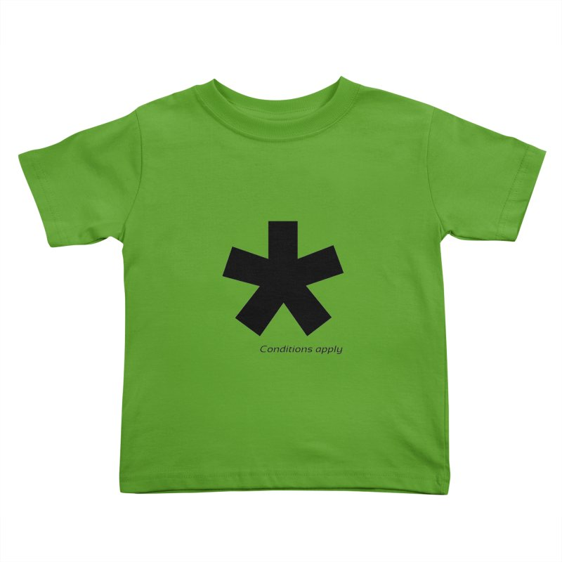 Abstract Asterix. Black design for conditions apply design. Kids Toddler T-Shirt by BIZGEN AUSTRALIA