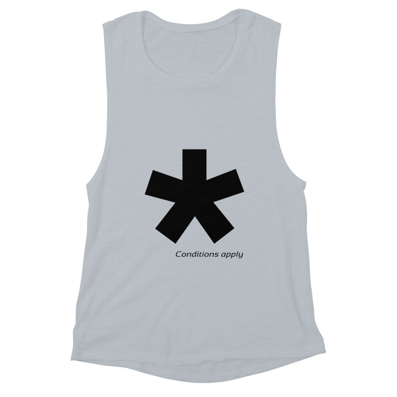 Abstract Asterix. Black design for conditions apply design. Women's Muscle Tank by BIZGEN AUSTRALIA