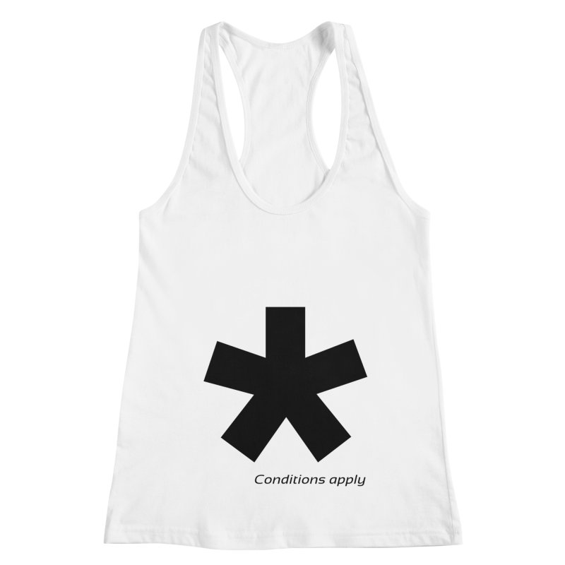 Abstract Asterix. Black design for conditions apply design. Women's Racerback Tank by BIZGEN AUSTRALIA