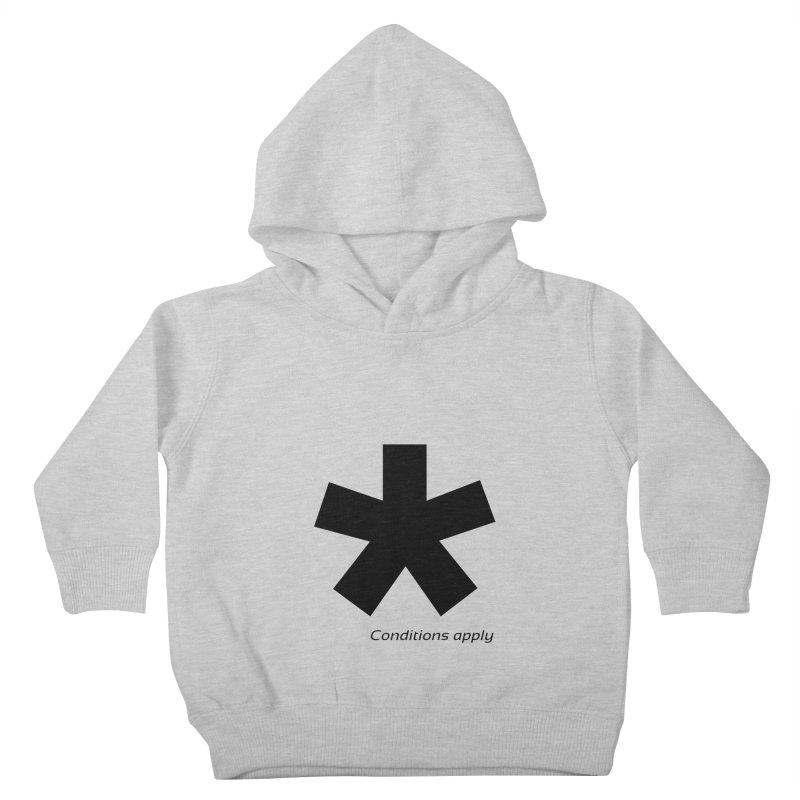 Abstract Asterix. Black design for conditions apply design. Kids Toddler Pullover Hoody by BIZGEN AUSTRALIA