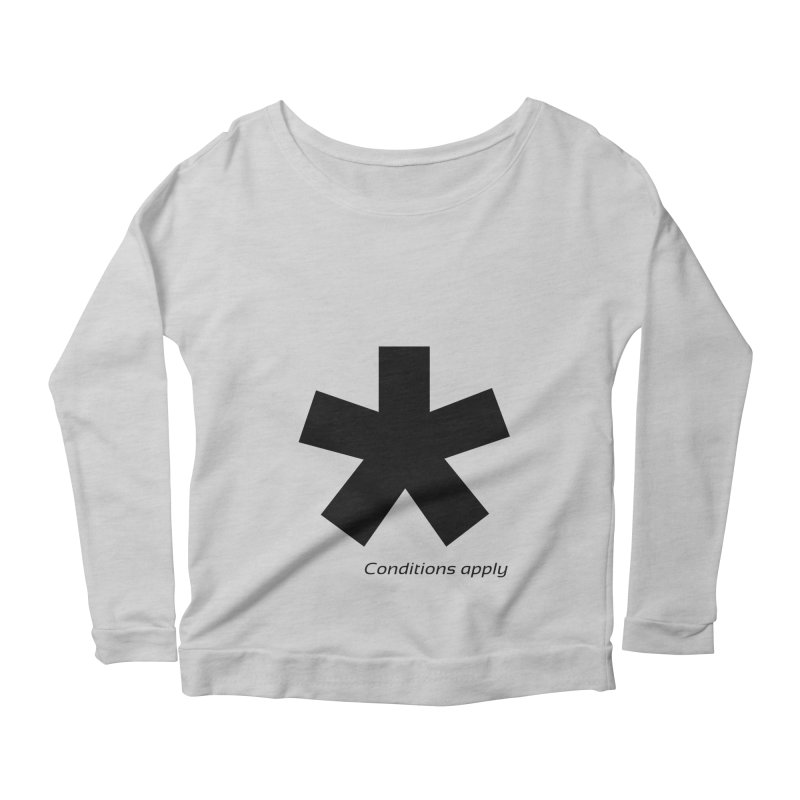 Abstract Asterix. Black design for conditions apply design. Women's Scoop Neck Longsleeve T-Shirt by BIZGEN AUSTRALIA