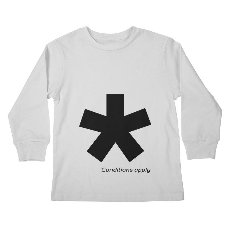 Abstract Asterix. Black design for conditions apply design. Kids Longsleeve T-Shirt by BIZGEN AUSTRALIA