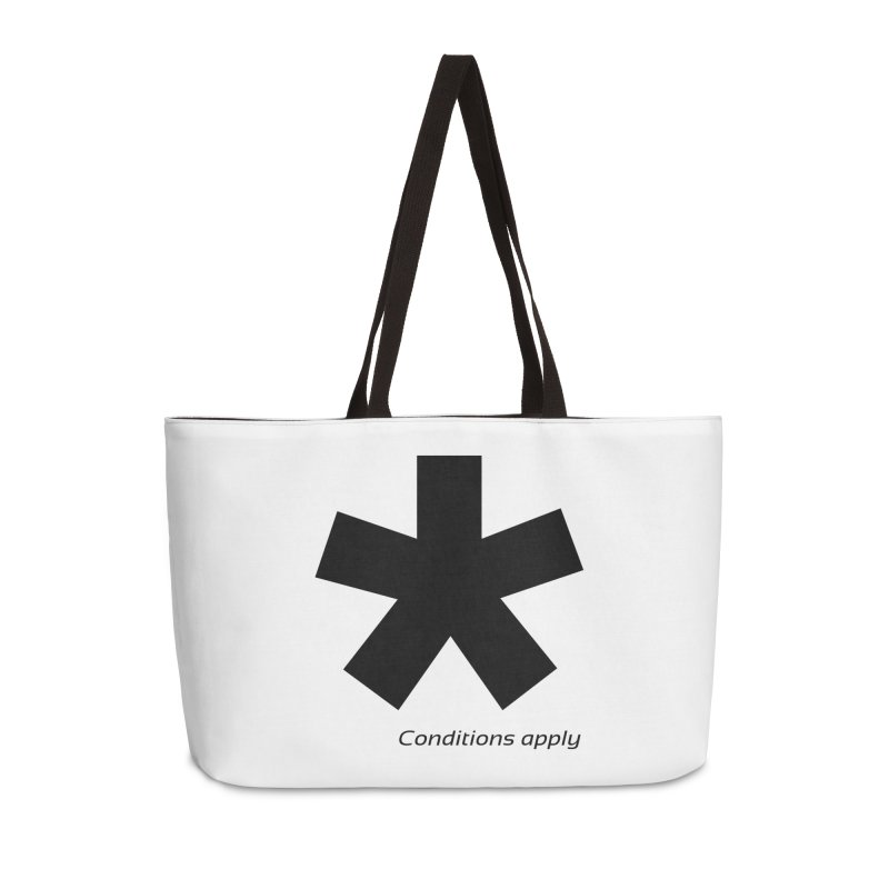 Abstract Asterix. Black design for conditions apply design. Accessories Bag by BIZGEN AUSTRALIA