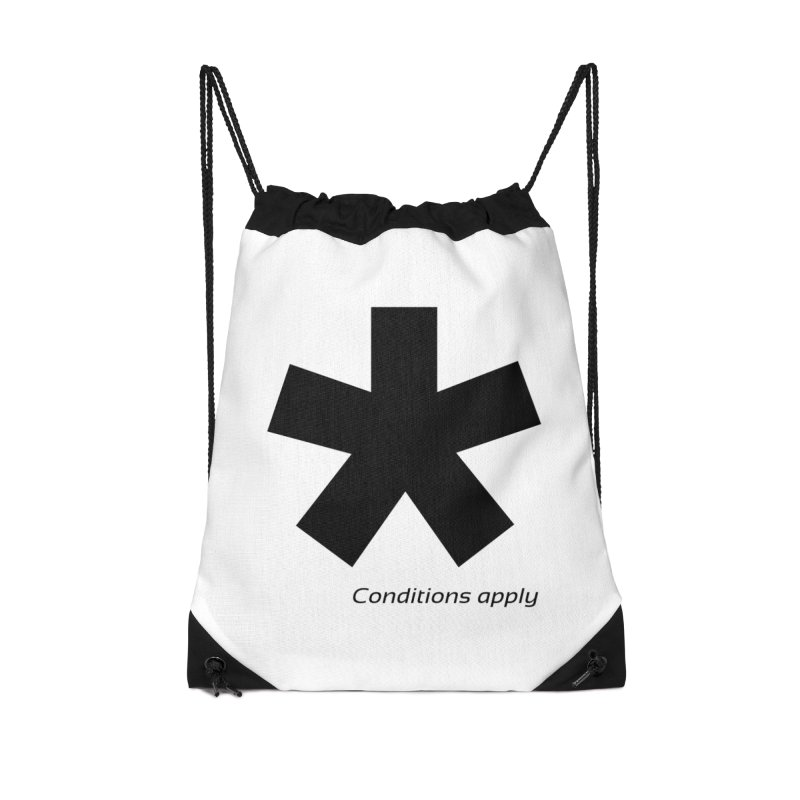Abstract Asterix. Black design for conditions apply design. Accessories Drawstring Bag Bag by BIZGEN AUSTRALIA