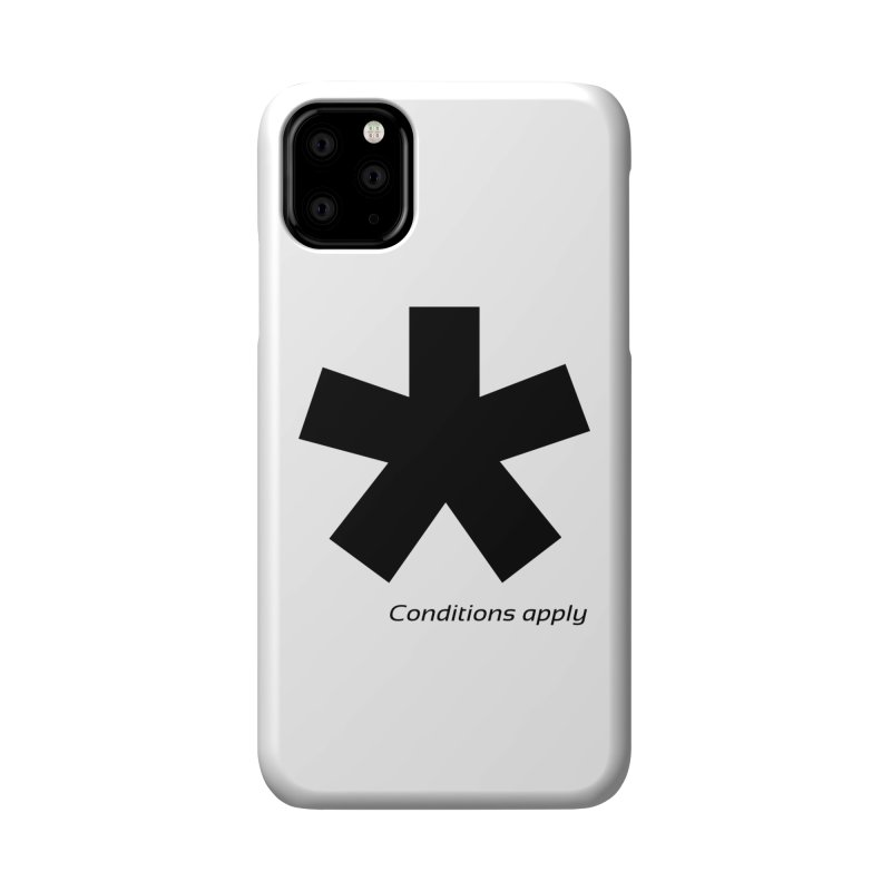 Abstract Asterix. Black design for conditions apply design. Accessories Phone Case by BIZGEN AUSTRALIA