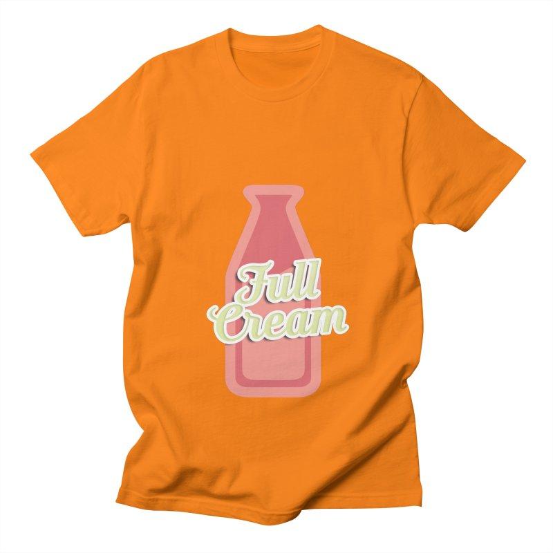 Full Cream Men's Regular T-Shirt by BIZGEN AUSTRALIA