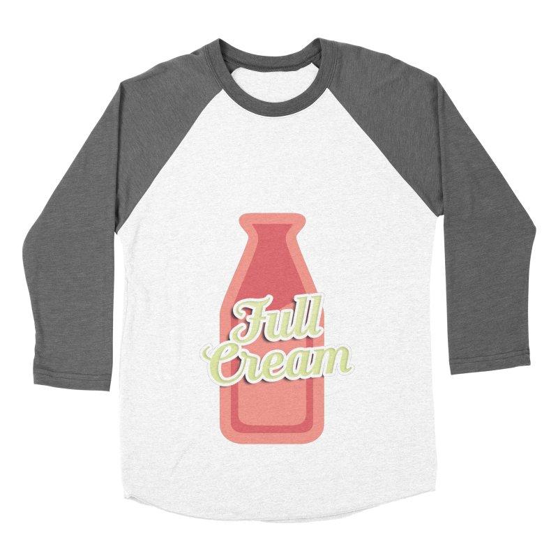 Full Cream Men's Baseball Triblend Longsleeve T-Shirt by BIZGEN AUSTRALIA