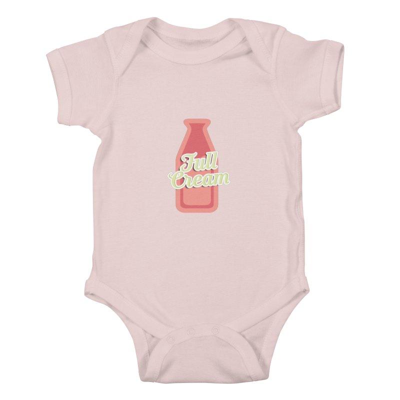Full Cream Kids Baby Bodysuit by BIZGEN AUSTRALIA