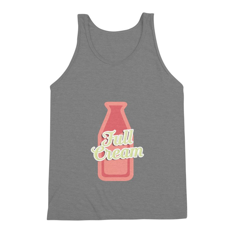 Full Cream Men's Triblend Tank by BIZGEN AUSTRALIA