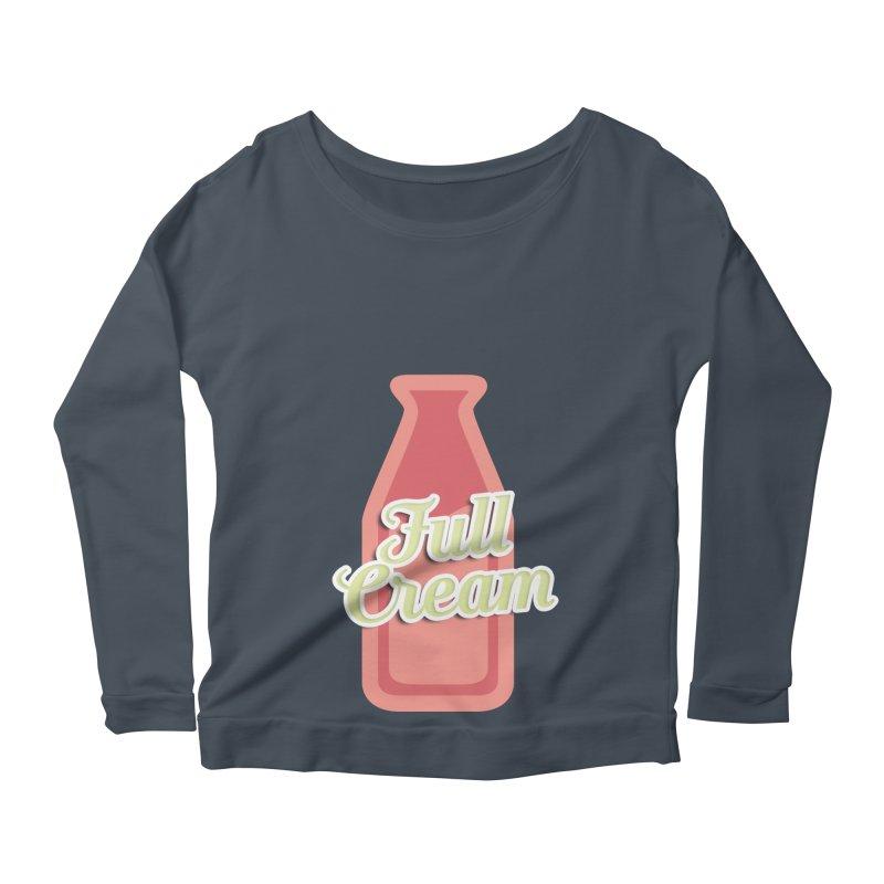 Full Cream Women's Scoop Neck Longsleeve T-Shirt by BIZGEN AUSTRALIA