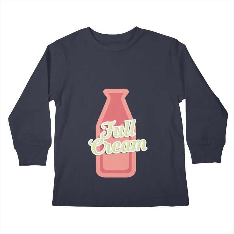 Full Cream Kids Longsleeve T-Shirt by BIZGEN AUSTRALIA