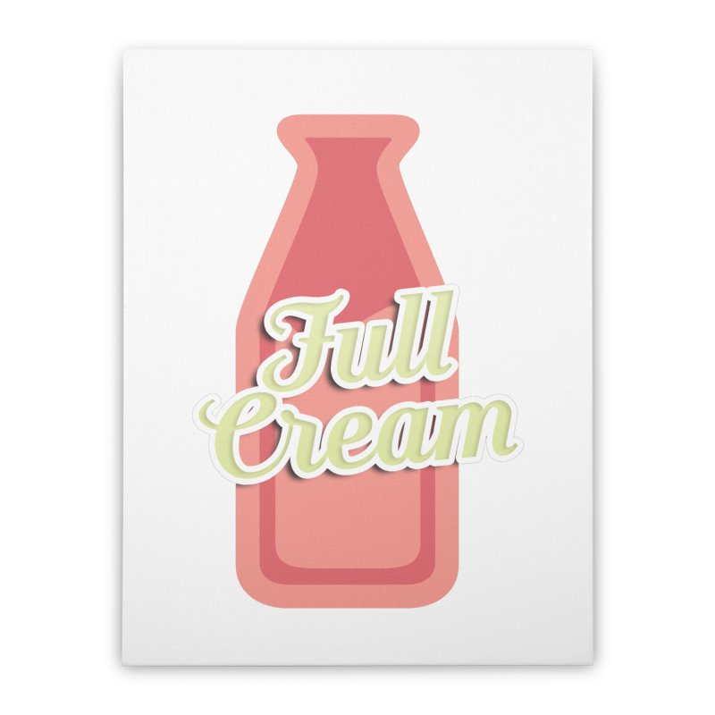 Full Cream Home Stretched Canvas by BIZGEN AUSTRALIA