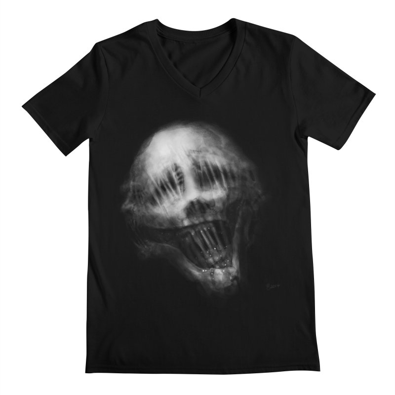 Untitled 69 Men's Regular V-Neck by Black Abyss