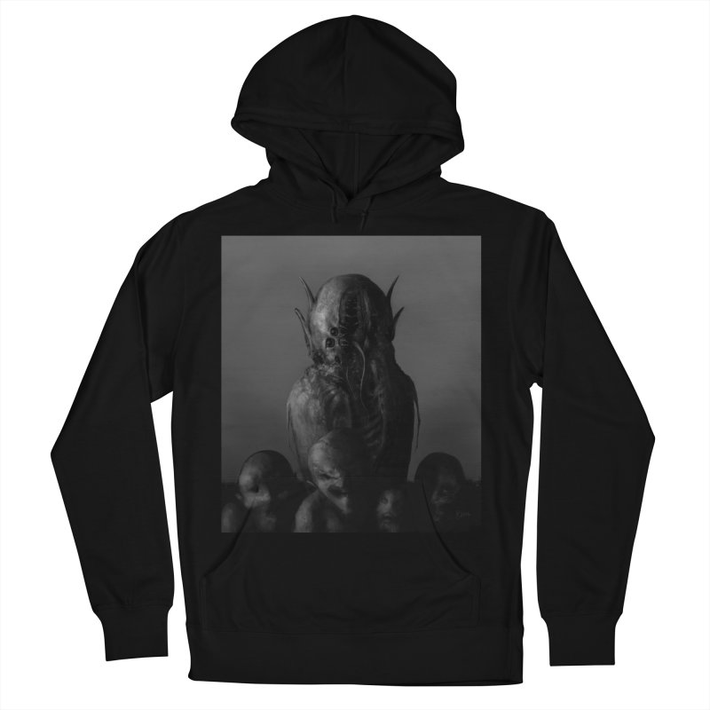 Untitled 84 Women's French Terry Pullover Hoody by Black Abyss