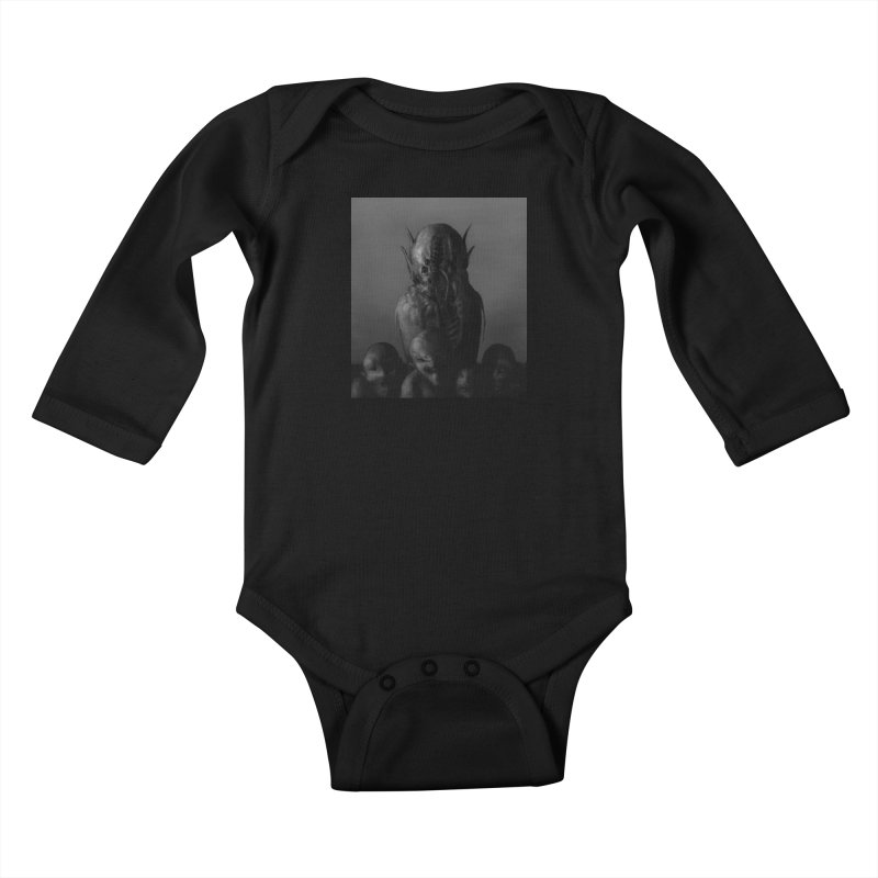 Untitled 84 Kids Baby Longsleeve Bodysuit by Black Abyss