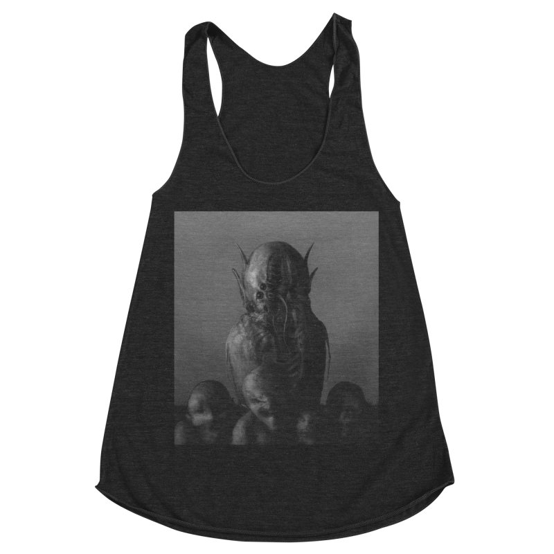 Untitled 84 Women's Racerback Triblend Tank by Black Abyss