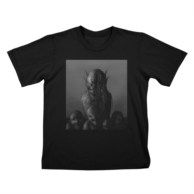 Untitled 84 Kids T-Shirt by Black Abyss