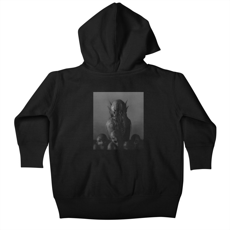 Untitled 84 Kids Baby Zip-Up Hoody by Black Abyss